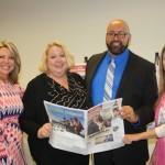 May 2014 - Julie Mullen, GCPRC President, Maureen DiSilva, SFBJ; Mel Melendez, Managing Editor, South Florida Business Journal, Pilar Portella, GCPRC Board Member