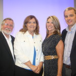 July 2014 - Brian Crowley, Crowley Political Report, with GCPRC Board Member Mary Thurwatcher, GCPRC President Julie Mullen, and George Bennett, The Palm Beach Post