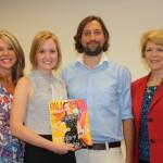 August 2014 - Julie Mullen, gcprc president, with Jennifer Pfaff, Senior Editor and Stephen Brown, Digital Editor, both of Palm Beach Media Group, and Debbie Weymss, gcprc board member