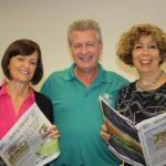 June 2014 - Helen Wolt, Delray Tribune, Dan Shube V.P GCPRC, Jan Engoren, Boynton Tribune